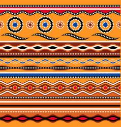 Ethnic seamless pattern australian traditional vector