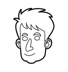 Face man male character image outline vector