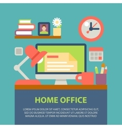 Flat design of modern home vector image