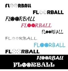 Floorball textl for logo the team and the cup vector image