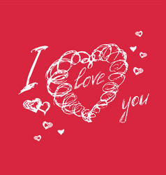 hand drawn doodle heart valentines day vector image vector image