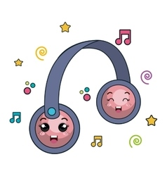 hearphone music character icon vector image