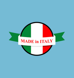 Made in italy logo italian production sign emblem vector
