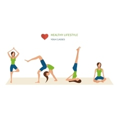 Modern flat icons of healthy lifestyle vector image