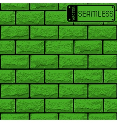 Realistic seamless texture of green brick wall vector
