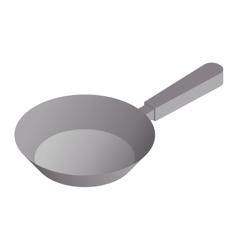 satin copper frying pan vector image