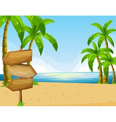 Scene with ocean and beach vector image vector image