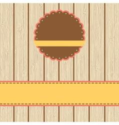 Scrap cardvintage design EPS8 vector image vector image