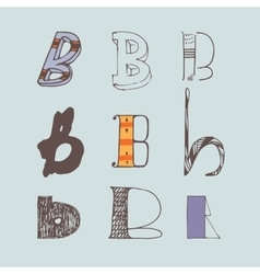 Set of colorful alphabet letters b vector