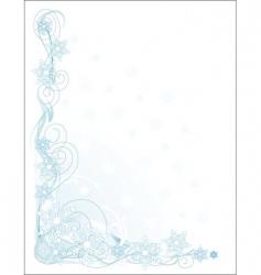 snowflake corner vector image vector image