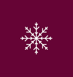 snowflake icon simple vector image vector image