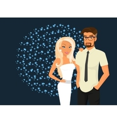 Stylish guy and his pretty girlfriend vector image