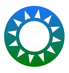 sun sign white icon in vector image