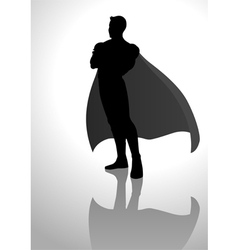 Superhero Silhouette vector image vector image