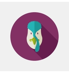 Turkey flat icon with long shadow vector image