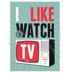 Typographic retro grunge TV poster vector image