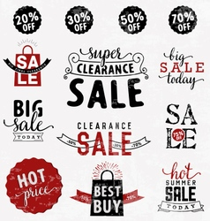 Typographical sale design element in vintage style vector