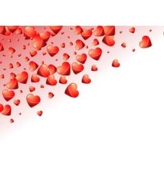 Valentine hearts background Holiday glossy hearts vector image