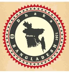 Vintage label-sticker cards of Bangladesh vector image