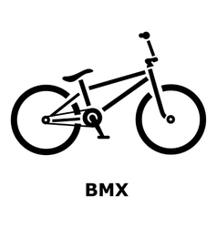 Bmx bike icon simple style vector