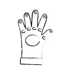 Construction industrial glove vector image