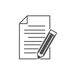 Note with pencil icon vector