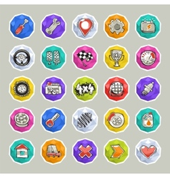 Cartoon cars icons set2 vector