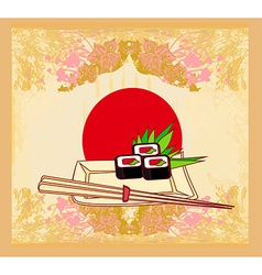 Template of traditional japanese food menu vector