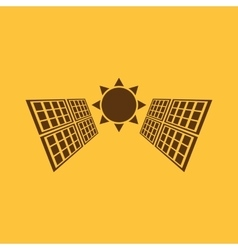 The solar panel icon green energy symbol flat vector