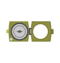 Vintage brass military army compass isolated vector