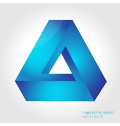 Abstract symbol impossible object triangle vector image vector image