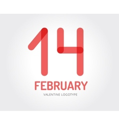 Abstract valentine logo template for vector image