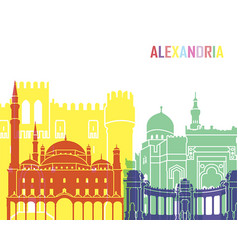 Alexandria skyline pop vector