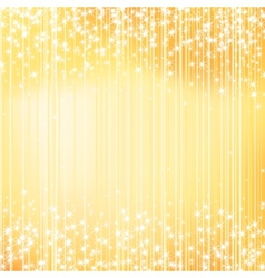 Bright golden holiday background with stars vector image vector image