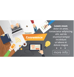 Business conference or meeting concept vector