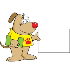 Cartoon Puppy with a Sign vector image vector image