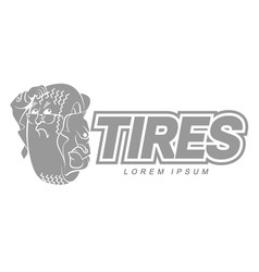 cartoon tires logo template vector image