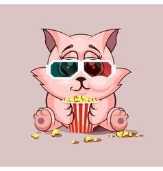 Cat watching a movie vector