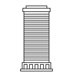 Column icon outline style vector