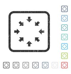 Compact arrows icon rubber watermark vector