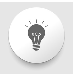 Electric lamp icon - vector image