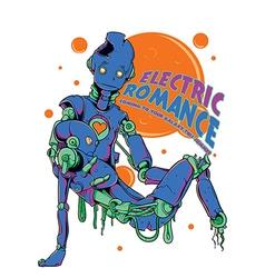 Electric romance vector