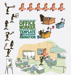 female office worker template character vector image vector image