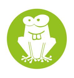 frog comic character icon vector image
