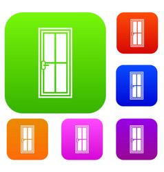 glass door set collection vector image
