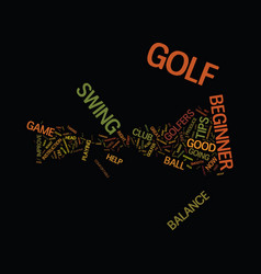 Golf tips for the beginner golfer text background vector