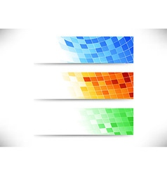 Headers collection - abstract tiles background vector image vector image