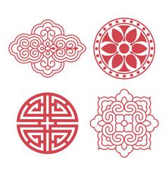 korean traditional design elements vector image vector image