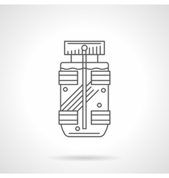 Mens fragrance bottle flat line icon vector