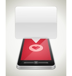 Mobile 09Mobile phone and heart icon vector image vector image